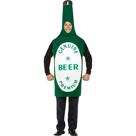 Beer Bottle Adult Halloween Costume](Beer Maid Costumes Halloween)