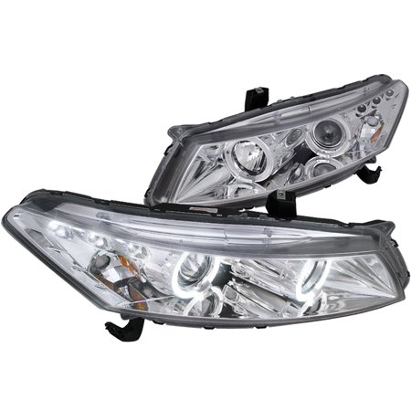 Spec-D Tuning 2008-2012 Honda Accord Coupe Twin Halo Projector Headlights 2008 2009 2010 2011 2012 (Left + (2008 Honda Accord Coupe Review)