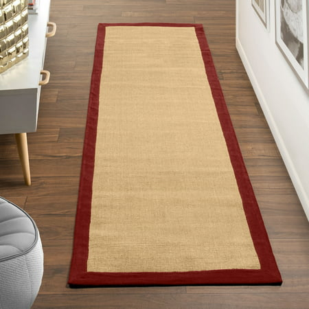 Superior Classic Jute Natural Fiber Area Rug with Non-Slip Backing ()