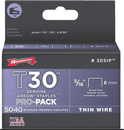 Arrow 5/16-Inch T30 Staples, 5000 Count