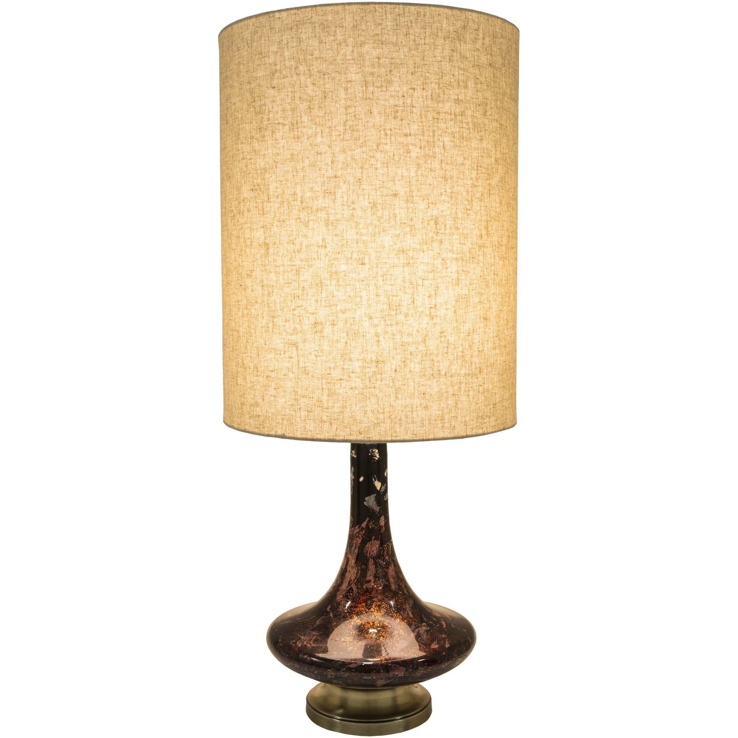 Surya Carpet, Inc. Kamora Table Lamp with Painted Glass Base