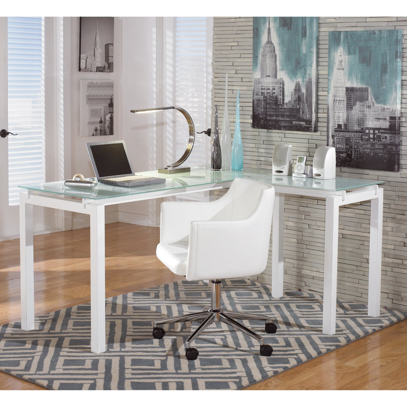 Signature Design by Ashley Baraga L-Shaped Desk - Walmart.com