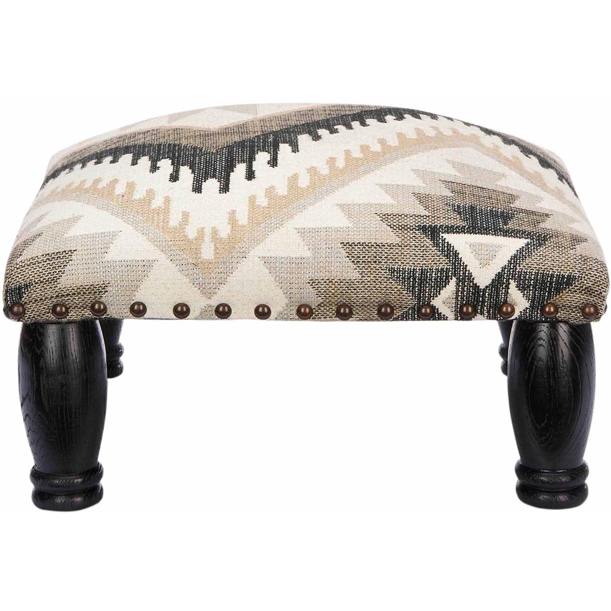 Safavieh Makalo Ottoman, Tribal Design with Brass Nail Heads