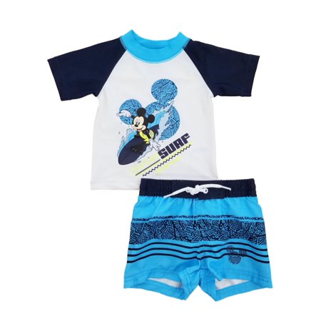 2ba0895c0d Disney - Disney Mickey Mouse Safari Surf Infant Boys Rash Guard & Swim  Trunks Set - Size - 0-3 Months - Walmart.com