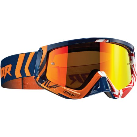 Thor Sniper Goggles Off Road/Snow (Geo Blue/Red, One Size Fits Most)