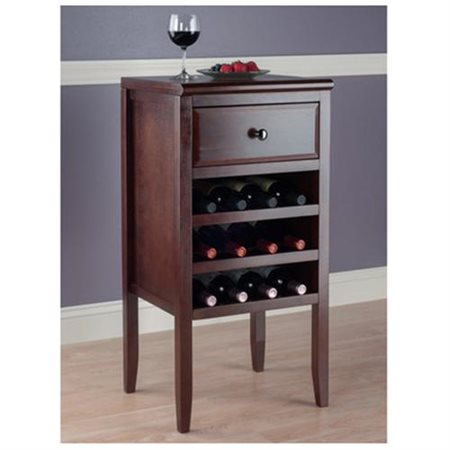 Winsome Orleans Modular Buffet with Wine Rack, Walnut by Winsome