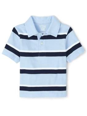 The Children's Place Baby Boys & Toddler Boys Short Sleeve Stripe Polo Shirt (12M-5T)