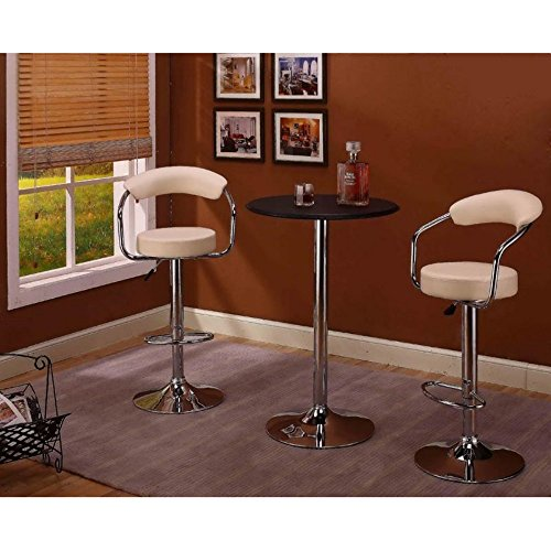 InRoom Designs Adjustable Height Swivel Bar Stool with Cushion (Set of 2)