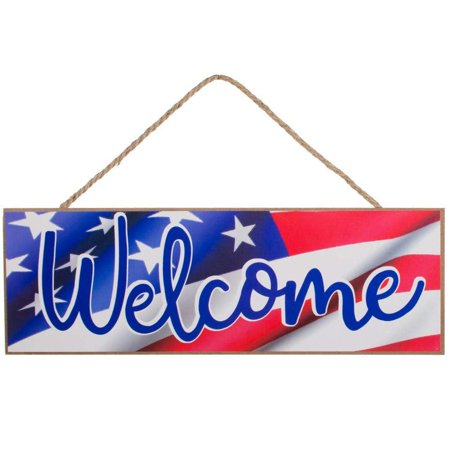 Patriotic American Flag Welcome Sign - 15