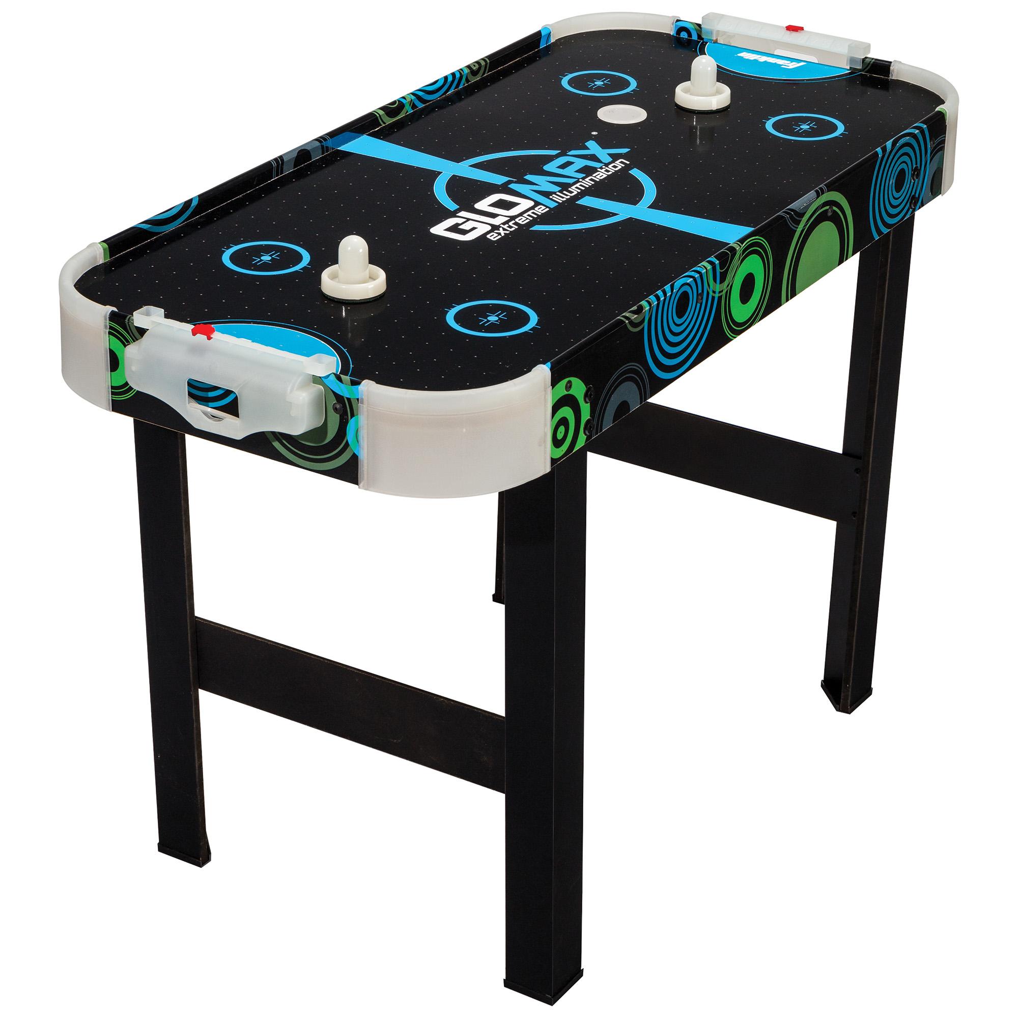 "Franklin Sports Glomax Glow-in-the-Dark Air Hockey Table, 40"" x 20"" x 27"""