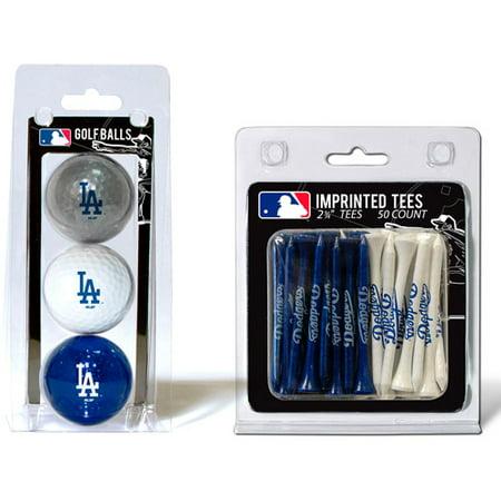 Team Golf MLB Los Angeles Dodgers 3 Golf Balls And 50 Golf Tees
