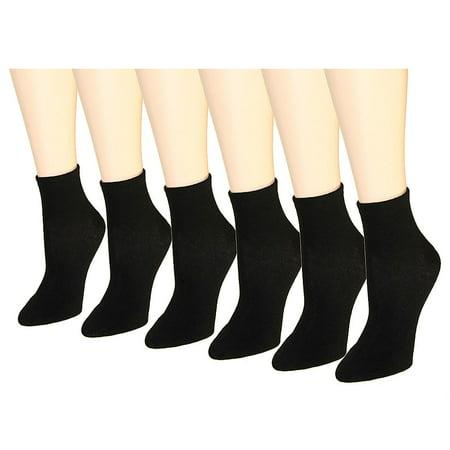 12 Pairs Women's Socks Assorted Colors Size 9-11 - Black Trouser Socks