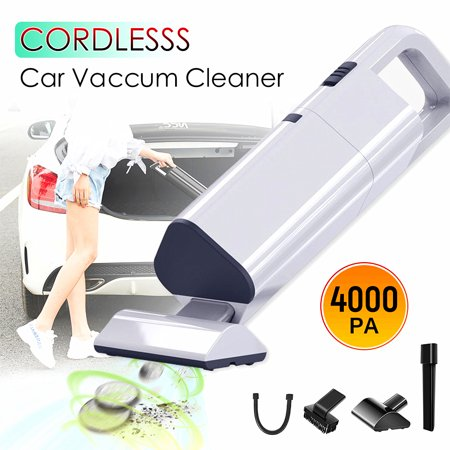 12V 120W Handheld Vacuum Wireless Wet&Dry USB for Car Vehicles Home Cleaning ()