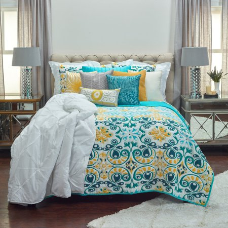 Rizzy Home Merriweather Aqua Quilt 106