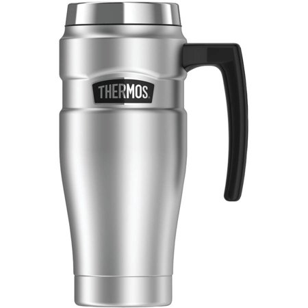 - Thermos SK1000STRI4 Stainless King Vacuum-Insulated Travel Mug, 16 oz, Silver