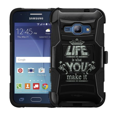 Samsung Galaxy Amp 2 Armor Hybrid Case - Life is What You Make it Chalk