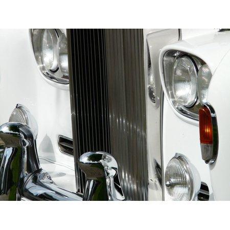 Canvas Print Auto Vehicle Chrome Cooler Spotlight White Stretched Canvas 10 x (Chrome Single Spotlight)
