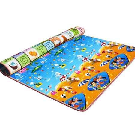 Hip Hop Play Carpet - Meigar Baby Kids Play Mat Picnic Cushion Crawling Carpet with Two Sides Playing Activity Pad Special Today