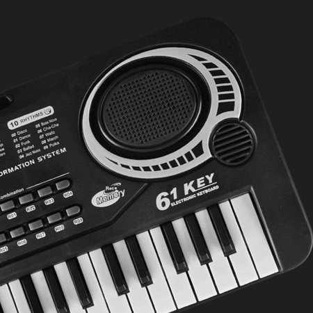 icoco 61 Key Children's Digital Keyboard Music Piano Keyboard On Sale for Adults Or Kids Beginners Electronic W/Mic Organ on Clearance, black and white - image 7 de 12