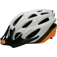 Ventura White/Orange In-Mold Helmet in Size M (54-58 cm)