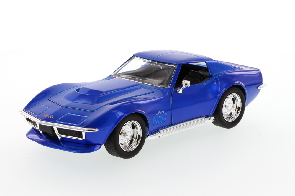 1969 Chevy Corvette Stingray ZL-1, Blue Jada Toys Bigtime Muscle 96887 1 24 scale Diecast... by Jada