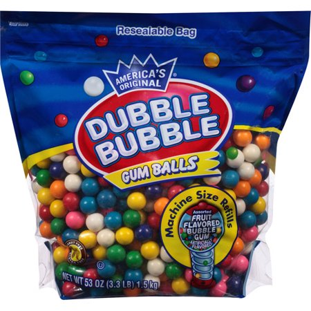 Bubble Gum Kit (Dubble Bubble Assorted Fruit Flavored Gum Balls, 53)