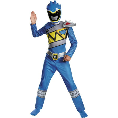 Blue Ranger Dino Classic Child Halloween Costume - Blue Superhero Costume