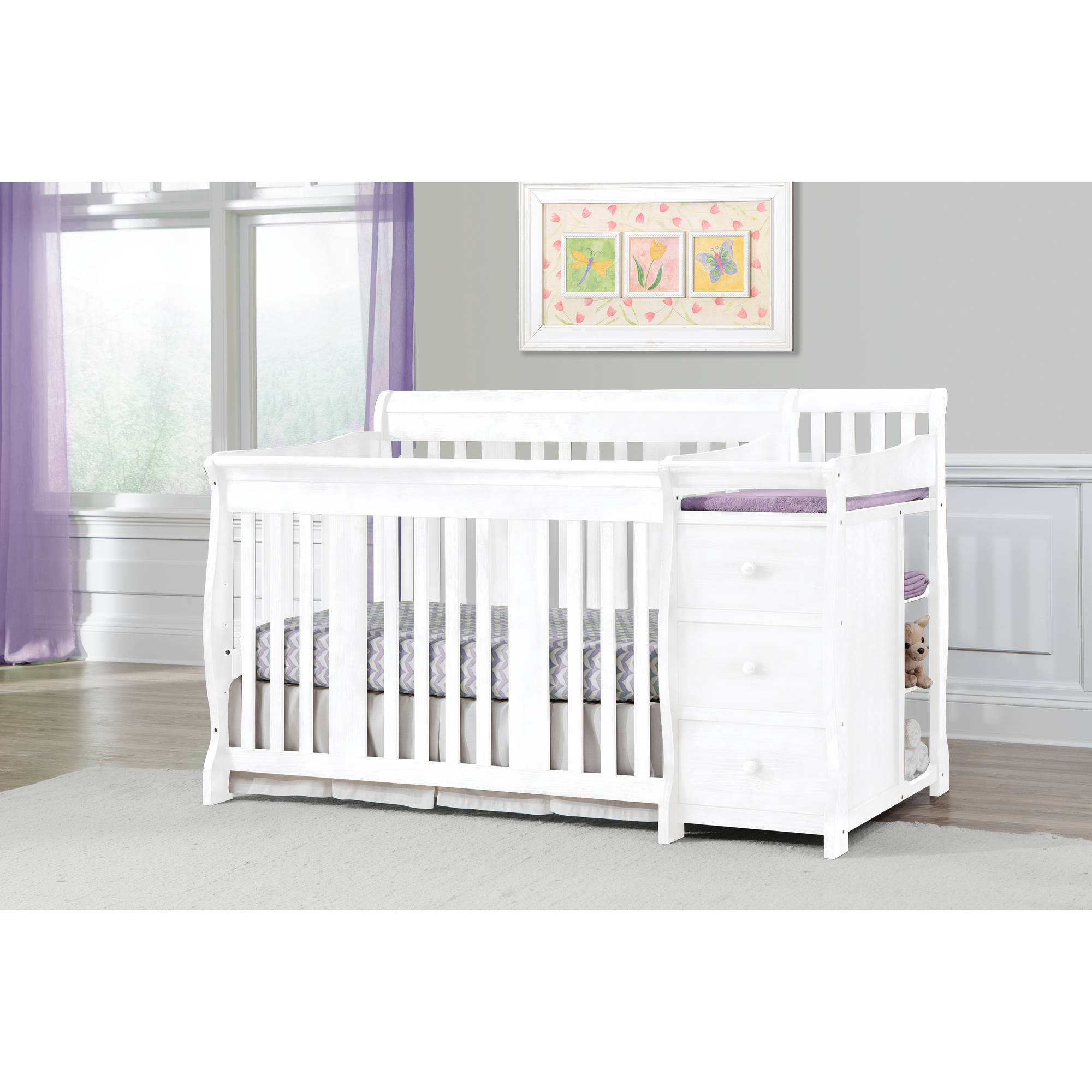 walmart convertible kypton relax espresso changing baby with in crib cribs ip table com
