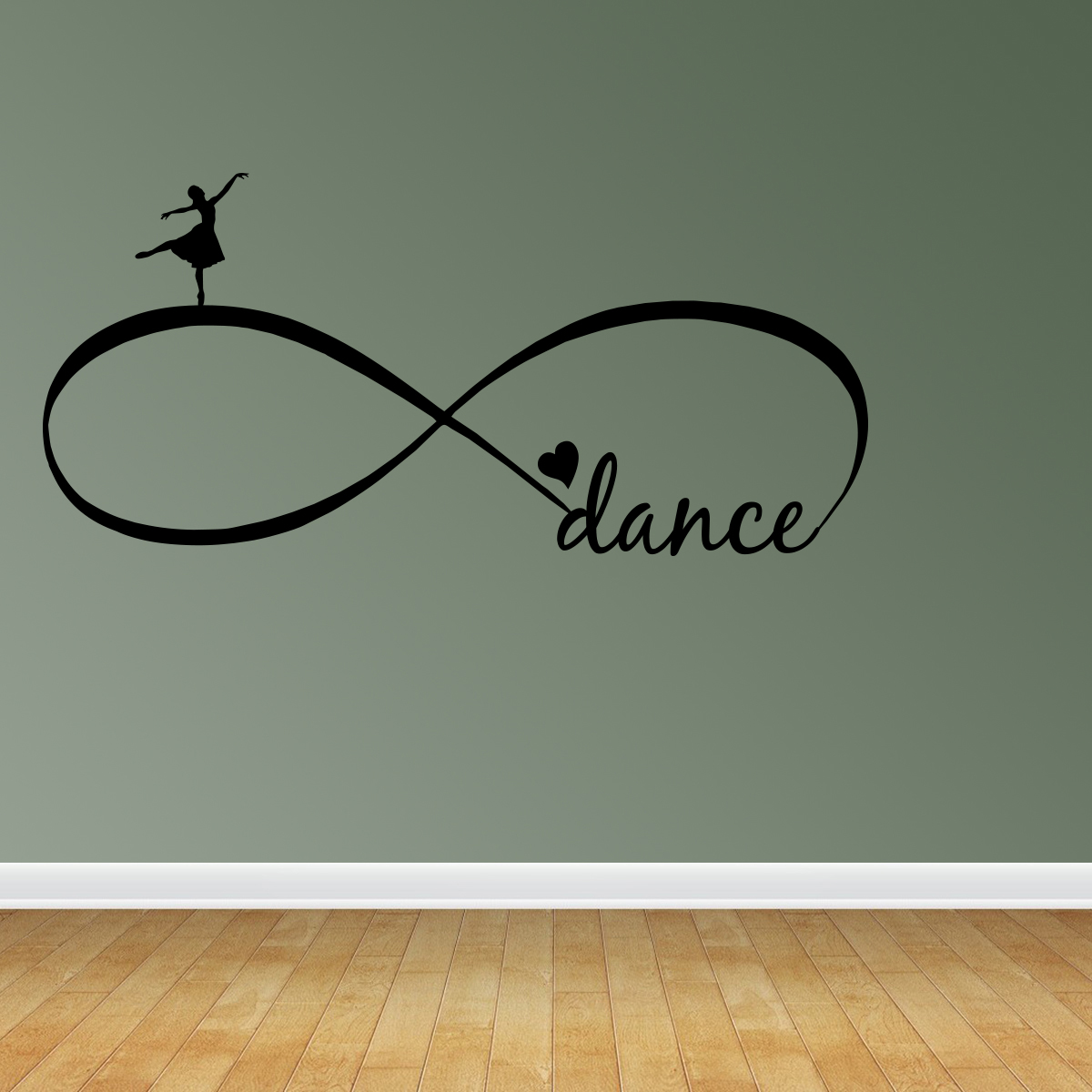 Wall Decal Quote Ballet Dance Forever Love Infinity Symbol Vinyl Saying R22
