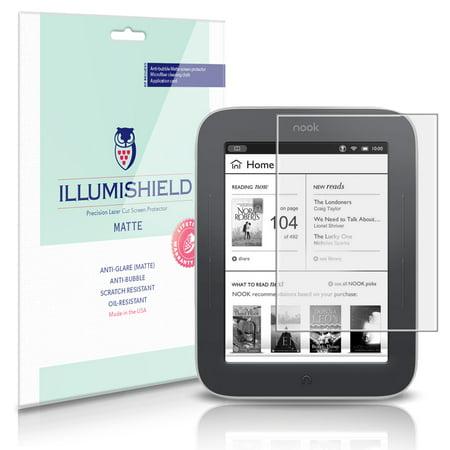 iLLumiShield Anti-Glare Screen Protector 3x for NOOK Simple Touch GlowLight 6