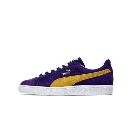 Mens Puma x Collectors Suede Classics Purple Spectre Yellow White