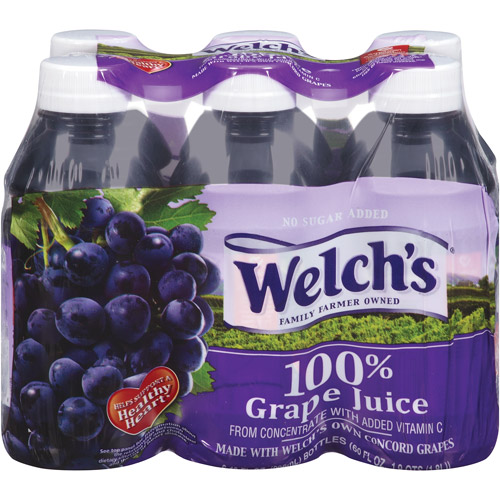 Welch's Single Serve 100% Grape Juice, 6 Ct/60 Fl Oz
