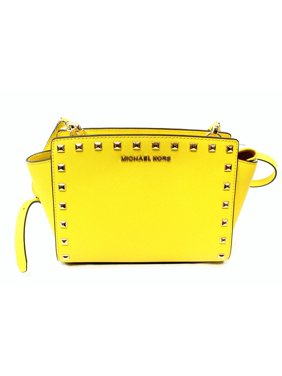 bb6591c7585a Product Image Michael Kors NEW Yellow Saffiano Studded Selma Messenger Bag  Purse