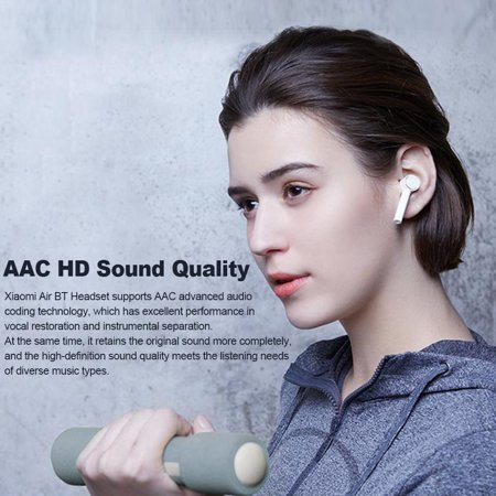 Xiaomi Air TWS Headphones AAC True Wireless Headset ANC Auto Pause Smart Touch Control Sweatproof Sport Earbuds Charging Box with Mic - image 6 de 7