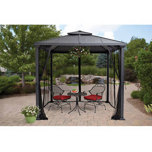 Better Homes and Gardens Sullivan Ridge Hard Top Gazebo with Netting, 8x8 by Himark Furniture Industrial Corp Ltd