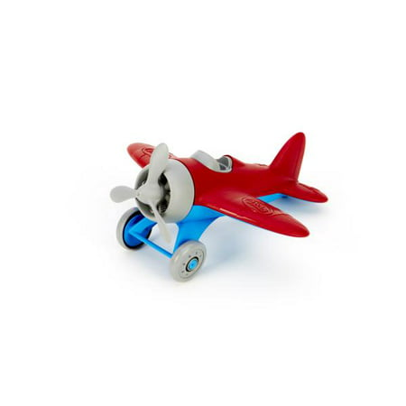 Pull Back Airplane Toy (Green Toys Airplane, Red )