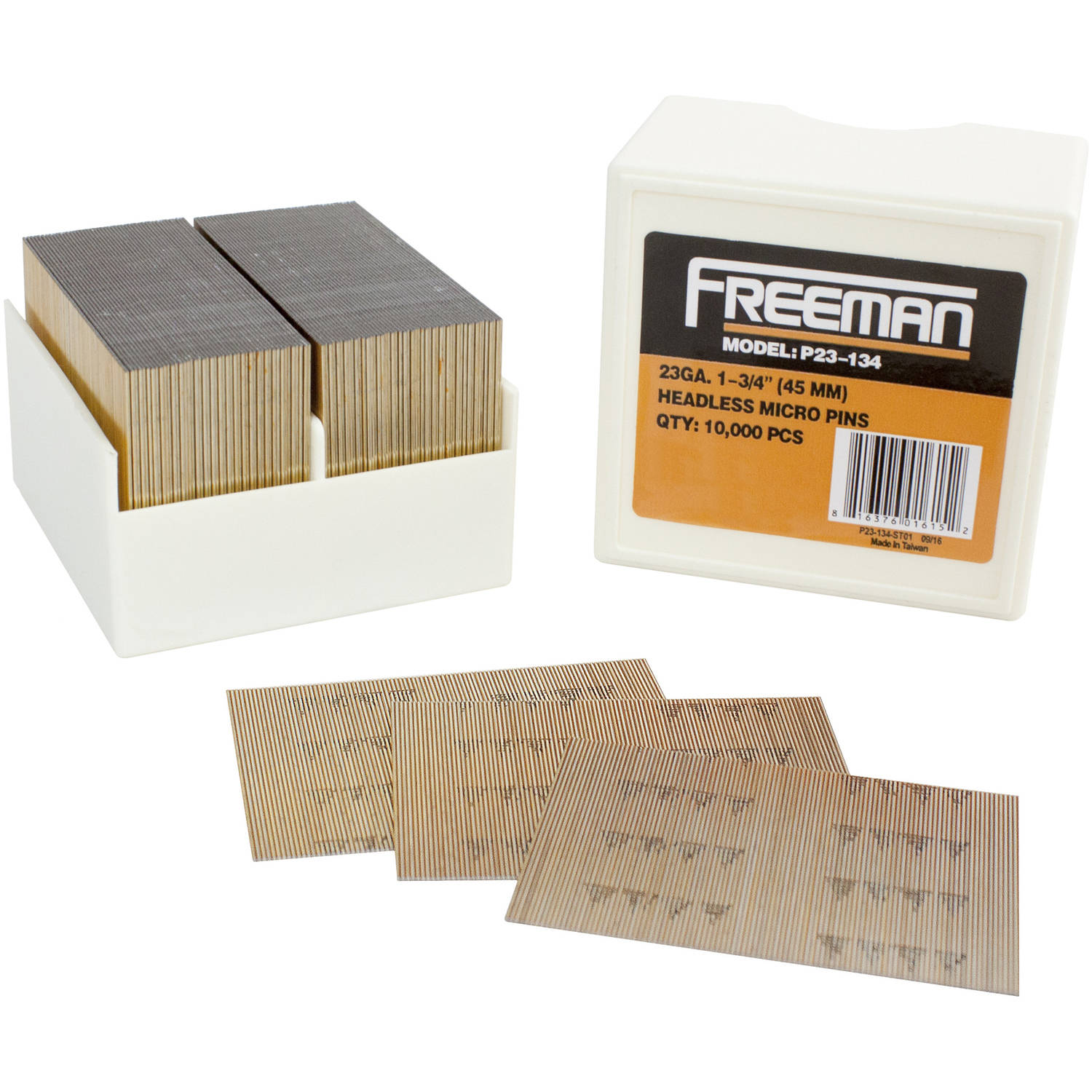 "Freeman P23-134 23-Gauge Glue Collated 1-3/4"" Pin Nails"