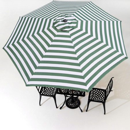 3a94226b22d7 10Ft 8 Rib Umbrella Replacement Cover Canopy Patio Outdoor Market Deck Yard  Top
