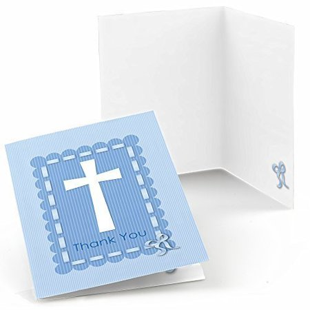 Delicate Blue Cross - Baby Shower or Baptism Thank You Cards (8 count)](Baby Shower Thank You Gift Ideas)