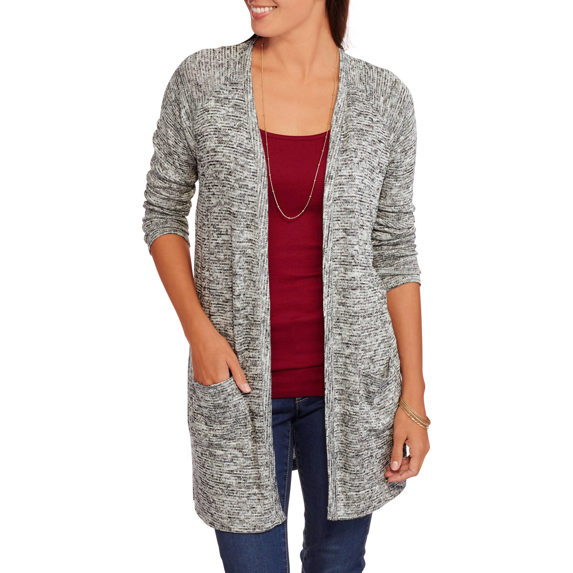 Faded Glory Women's Raglan Midi Cardigan