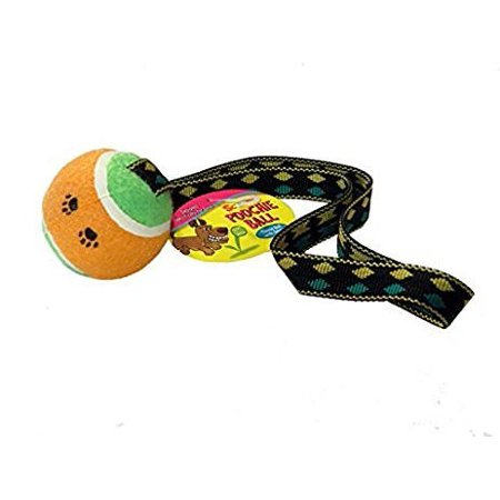 Tennis Ball With Tug Strap Scoochie Poochie -
