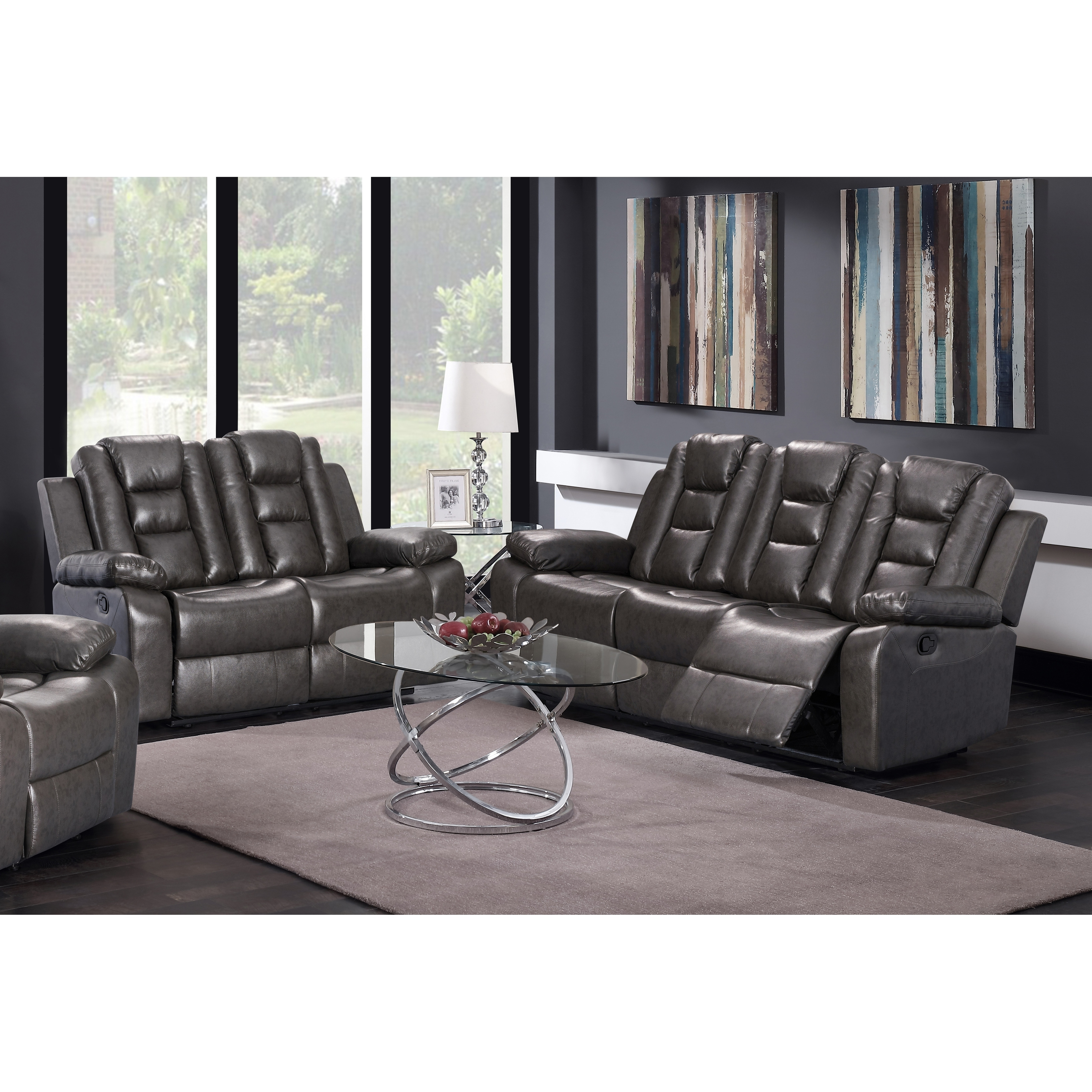 Gtu furniture modern contemporary sleek lever faux leather reclining sofa couch loveseat sofás reclinables para adultos walmart com