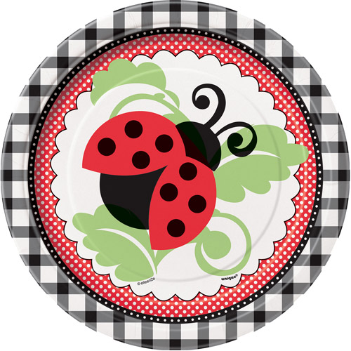 "7"" Ladybug Party Plates, 8ct"