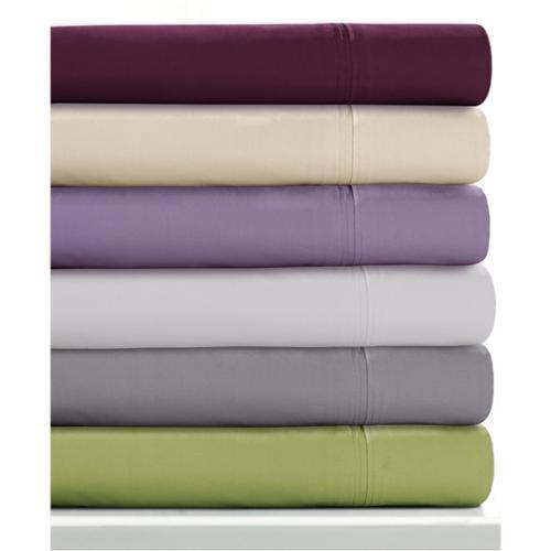 Egyptian Cotton Percale 350 Thread Count Deep Pocket Sheet Set with Oversize Flat Standard Pillowcase Set - Green