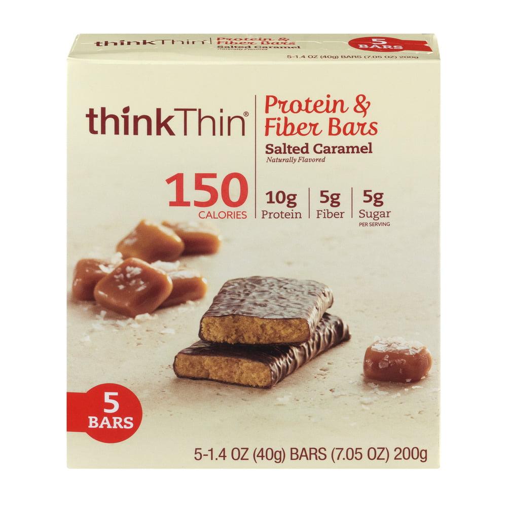 thinkThin Protein & Fiber Bars Salted Caramel, 1.4 OZ