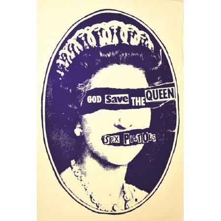Save the Queen by Annex Punk Rock Sex Pistols Vintage Concert Poster Art Print - Halloween Concert Flyer