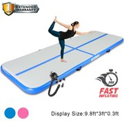 Air Track Mat, Tumbling Mat, Inflatable Gymnastics Airtrack Mat, Air Floor Mat with Electric Air Pump for Training/Cheerleading