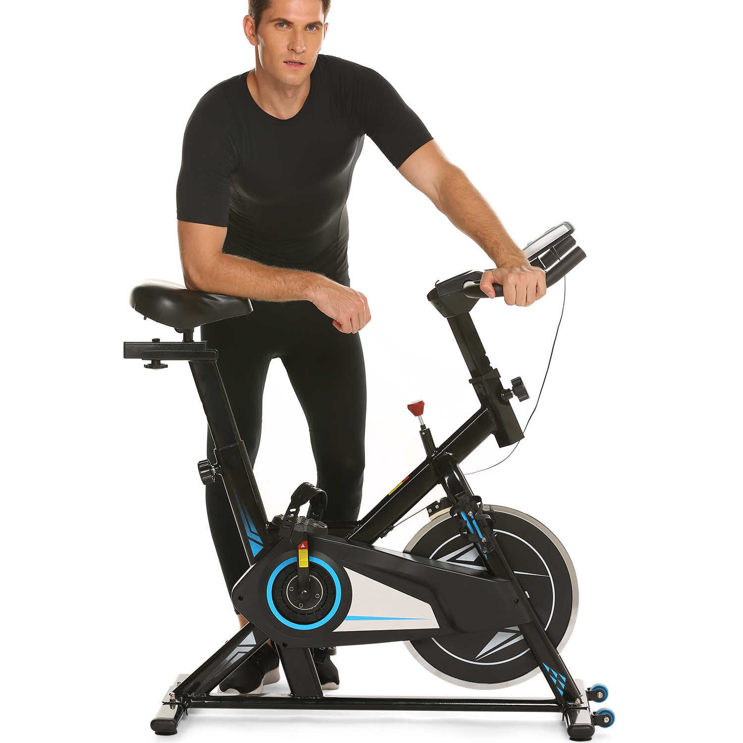 Exercise Bike Indoor Cycle Exercise Indoor Bike For Workout Fitness HITC