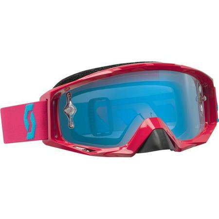 Rubine Red White Blue Chrome Scott Usa 89Si Pro Oxide Youth Goggles Dirt Bike Mo