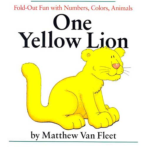 One Yellow Lion: Fold-Out Fun With Numbers, Colors, Animals